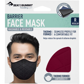 Sea to Summit Barrier Face Mask, rhubarb red